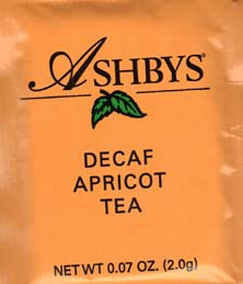 Ashbys Apricot Decaf Tea